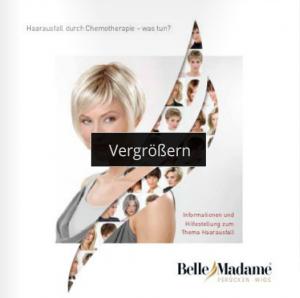Dening Brochure 2015 Perücken bei Chemotherapie Wellkamm Düsseldorf