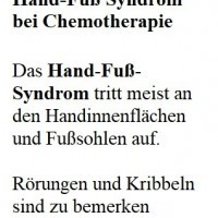 Hand-foot syndrome in chemotherapy